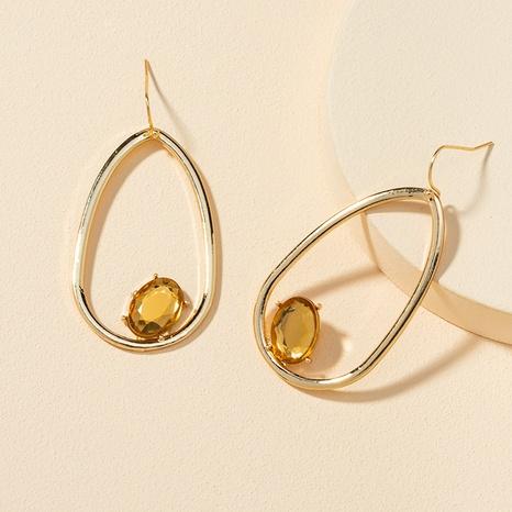 new fashion gemstone alloy earrings  NHGU307071's discount tags