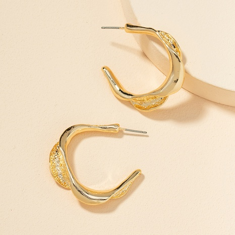 new metal C-shaped alloy earrings NHGU307078's discount tags