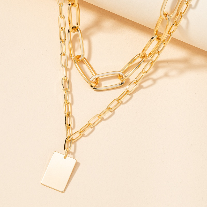 fashion double-layer simple necklace  NHGU307090