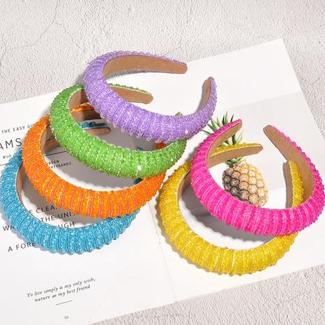 fashion rhinestone woven headband NHAQ307098's discount tags