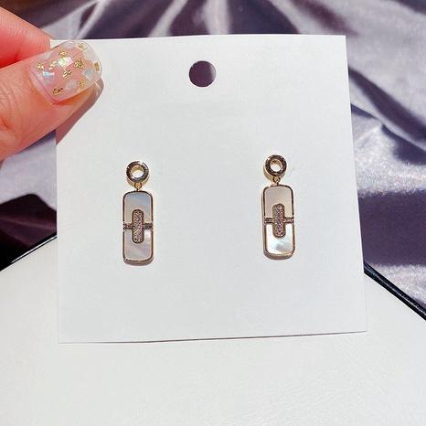 einfache mikro-eingelegte natürliche Zirkon-Ohrringe NHCG307109's discount tags