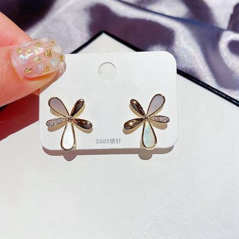 mikro-eingelegte natürliche Ohrringe aus Zirkon NHCG307120's discount tags