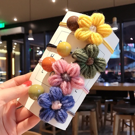 anneau de cheveux boule lisse fleurs simples NHDQ307129's discount tags