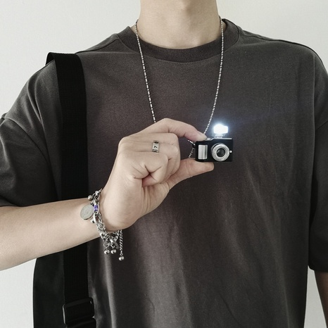 hip hop camera necklace sweater necklace NHQC307805's discount tags