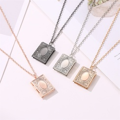 fashion creative magic book photo frame necklace NHDP307143