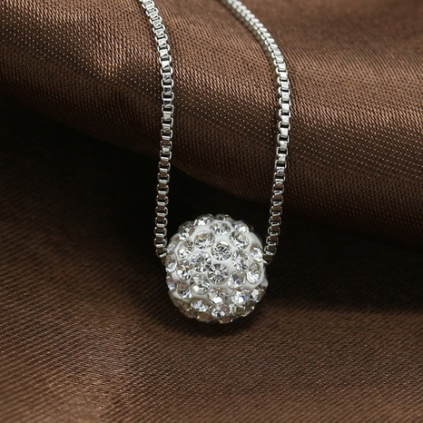 exquisite diamond ball pearl necklace NHDP307144's discount tags