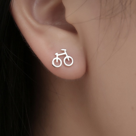 New creative mini bicycle earrings  NHDP307146's discount tags
