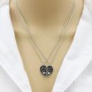 Fashion letter best sister heart pendant necklace NHDP307157