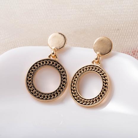 hollow geometric chain earrings NHQS307168's discount tags