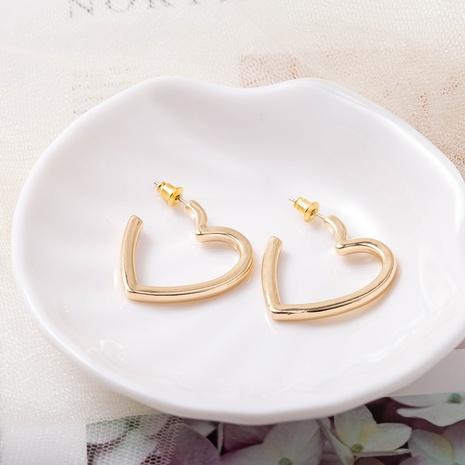 fashion s925 silver needle heart-shaped earrings NHQS307173's discount tags