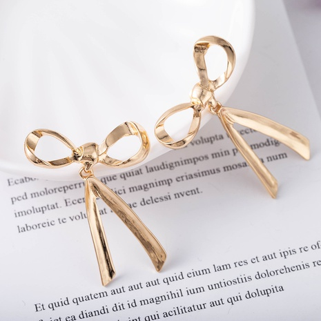 bow knot s925 silver needle earrings  NHQS307181's discount tags