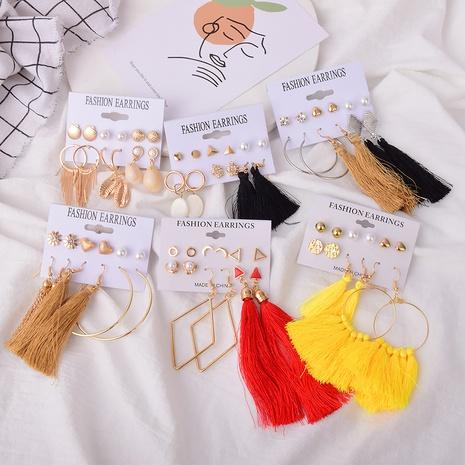 retro tassel earrings set NHSD307222's discount tags