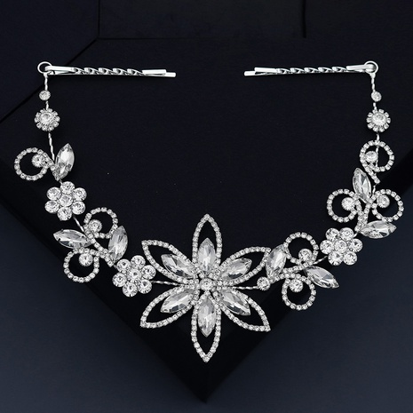 new fashion rhinestone flowers simple hairband NHHS307226's discount tags