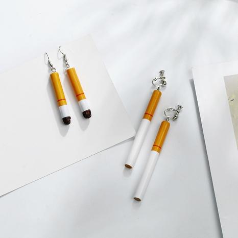 retro cigarette butt earrings NHQC307806's discount tags