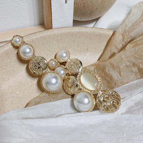 Korean simple pearl retro opal hair clip  NHAR306903's discount tags