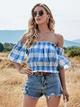 fashion sexy new plaid T-shirt NHIS307279
