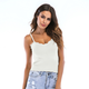 new simple lace stitching top vest NHIS307274