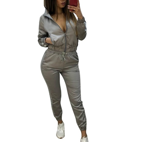 new fashion splicing sports leisure two-piece suit NHIS307273's discount tags