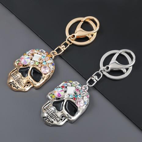 porte-clés tête de mort en alliage de diamants NHJE307358's discount tags