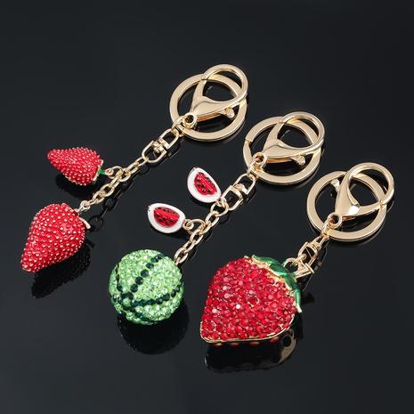 porte-clés fraise pastèque serti de diamants en alliage NHJE307376's discount tags