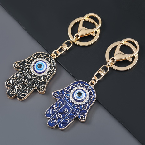 alloy diamond palm eye keychain NHJE307377's discount tags