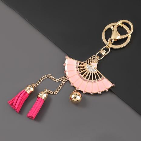Porte-clés de fan de diamant d'alliage de mode NHJE307378's discount tags
