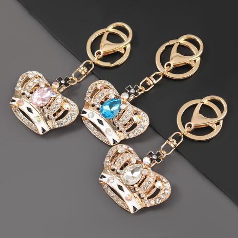 porte-clés couronne de reine en alliage de diamant NHJE307382's discount tags