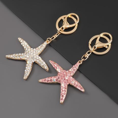porte-clés étoile de mer dessin animé diamant alliage NHJE307383's discount tags