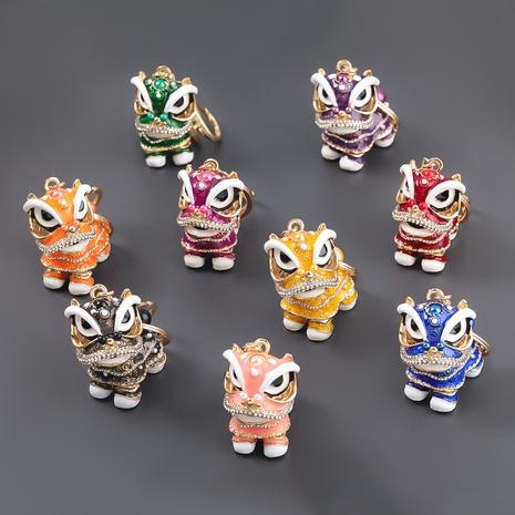 Porte-clés lion en alliage de diamant de style chinois NHJE307384's discount tags