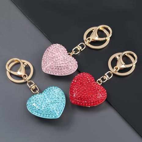 porte-clés en forme de coeur en alliage de mode diamant NHJE307385's discount tags