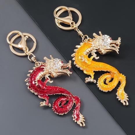 Porte-clés dragon volant en alliage de diamant de style chinois NHJE307386's discount tags