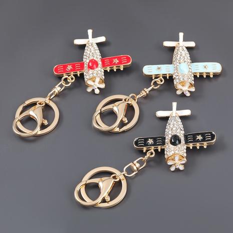 porte-clés d'avion de dessin animé de diamant d'alliage NHJE307387's discount tags