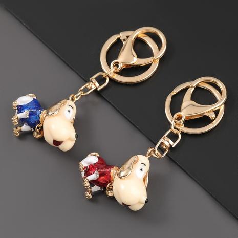 porte-clés de chien de dessin animé de diamant d'alliage de mode NHJE307388's discount tags