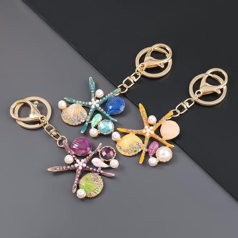 porte-clés coquille d'étoile de mer incrusté de diamants en alliage NHJE307390's discount tags