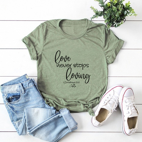 T-shirt à la mode des lettres de la Saint-Valentin NHSN307400's discount tags