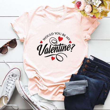 T-shirt mode amour Saint Valentin NHSN307402's discount tags