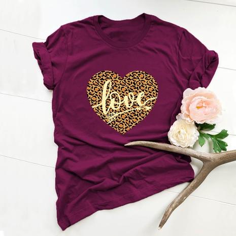 T-shirt simple d'amour de la Saint-Valentin NHSN307403's discount tags