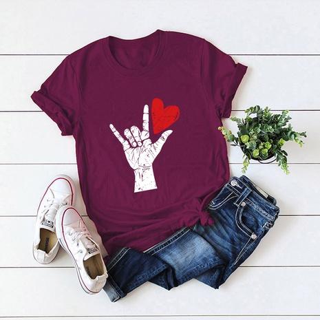T-shirt d'amour de la mode de la Saint-Valentin NHSN307404's discount tags