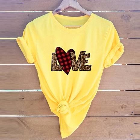 T-shirt mode amour Saint Valentin NHSN307407's discount tags