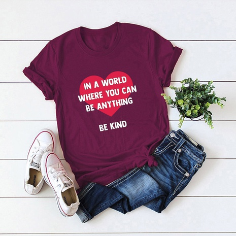 Valentine's Day love shape t-shirt  NHSN307408's discount tags