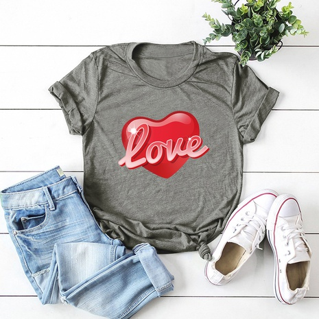 Valentine's Day red love t-shirt  NHSN307411's discount tags