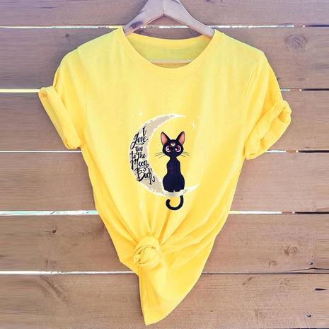 T-shirt chat de lune de la Saint-Valentin NHSN307412's discount tags