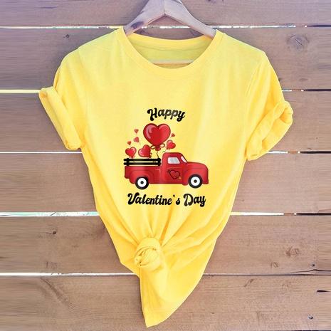 T-shirt de voiture de la Saint-Valentin NHSN307414's discount tags