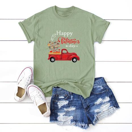 T-shirt de voiture de la Saint-Valentin NHSN307424's discount tags