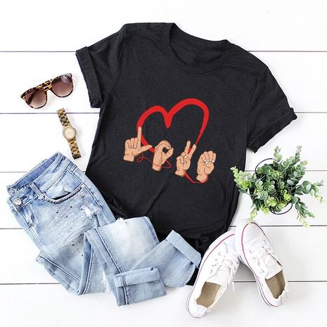 T-shirt simple d'amour de la Saint-Valentin NHSN307425's discount tags