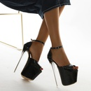 new simple one word buckle fish mouth hollow sandals NHSO307454