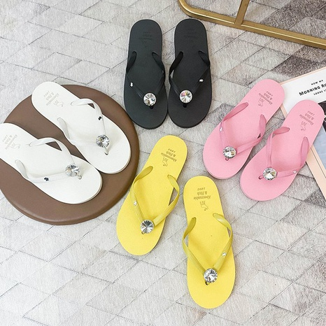 new flip flops fashion korean pvc sole soft-soled shoes NHPE307643's discount tags