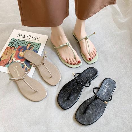 Simple beach flip-flop fashion sandals NHPE307647's discount tags