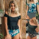 new split floral swimsuit  NHHL307729