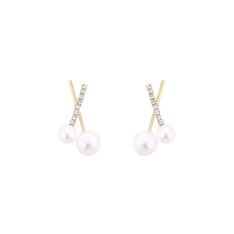 neue trendige Perlenkreuzohrringe NHVA307756's discount tags